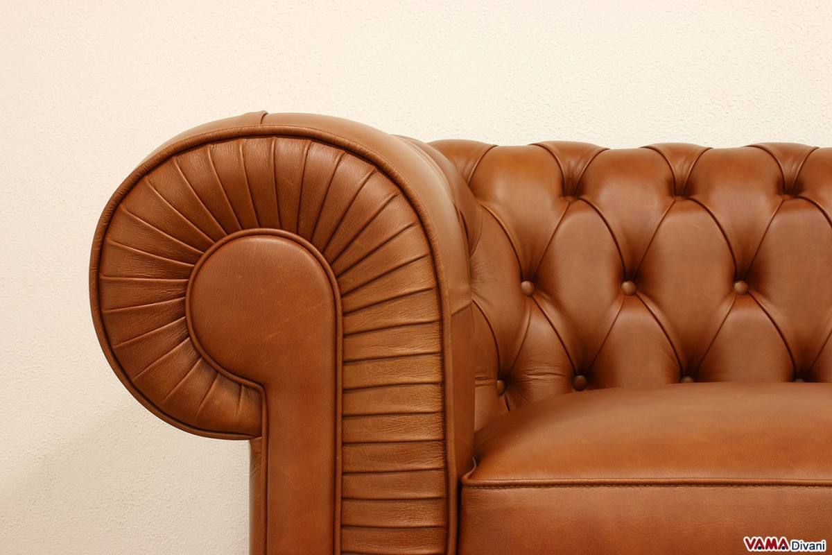 Arm Pleats Of A Chesterfield