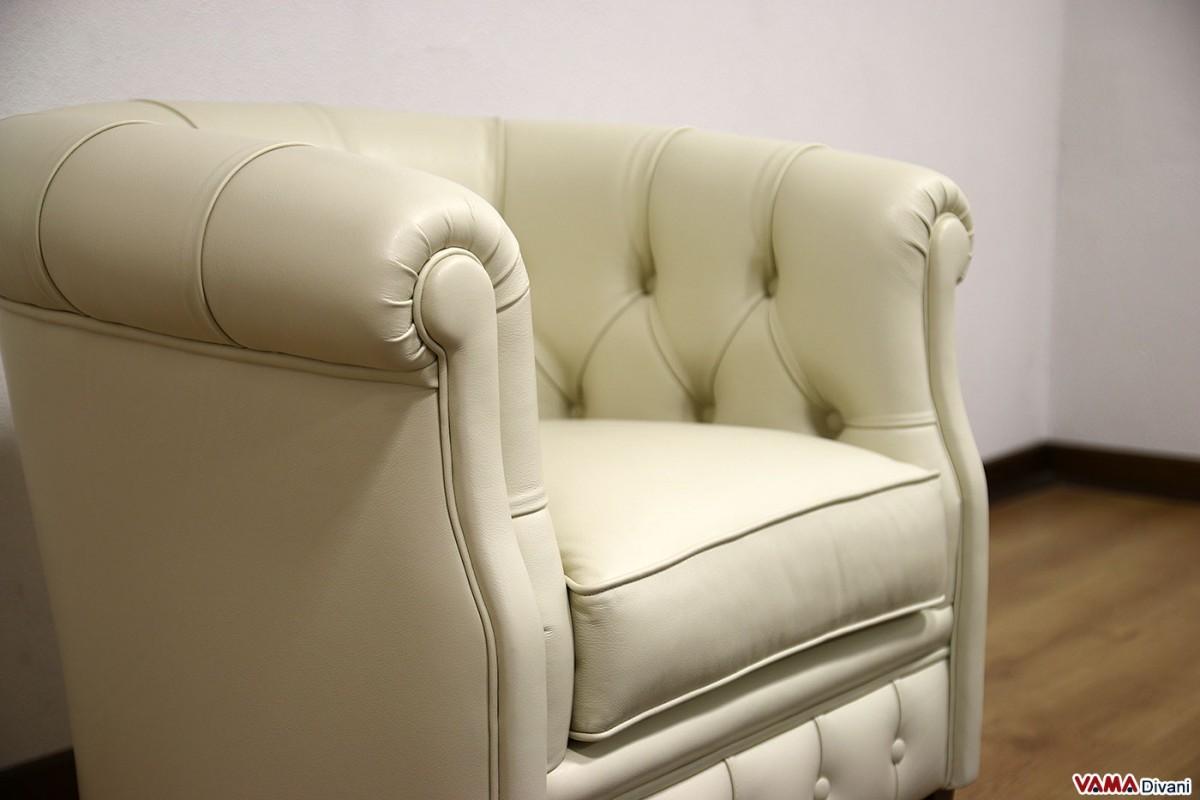 Armchair bedroom beige leather