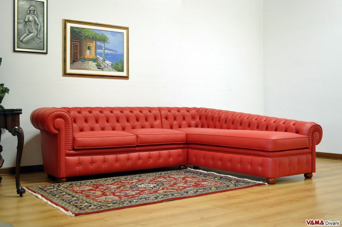 chesterfield corner sofa  price and sizes