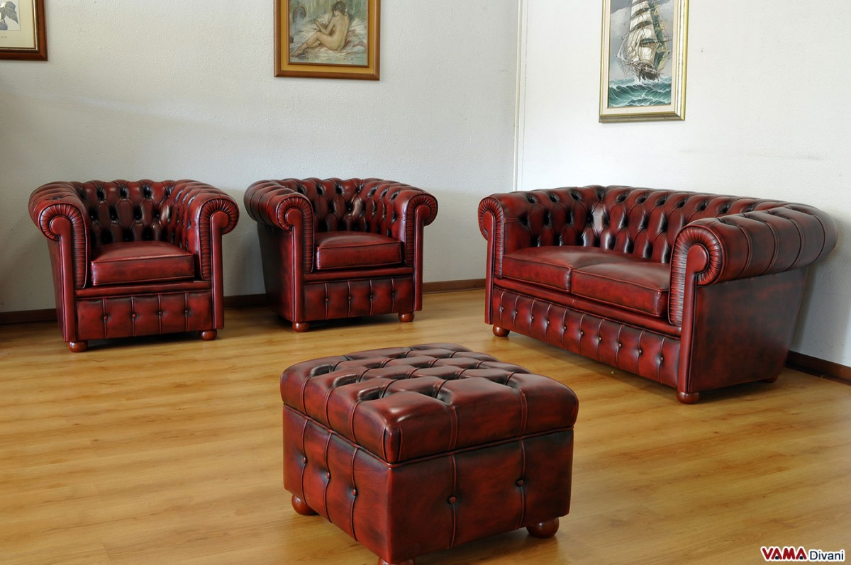 Chesterfield Lounge Suite In Vintage