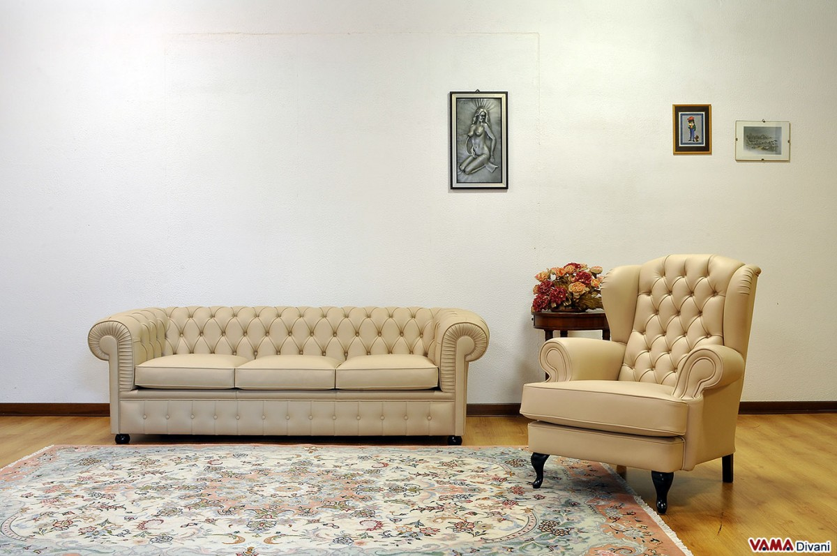 chesterfield sofa and armchair in cream leather chesterfield sofa leather 3