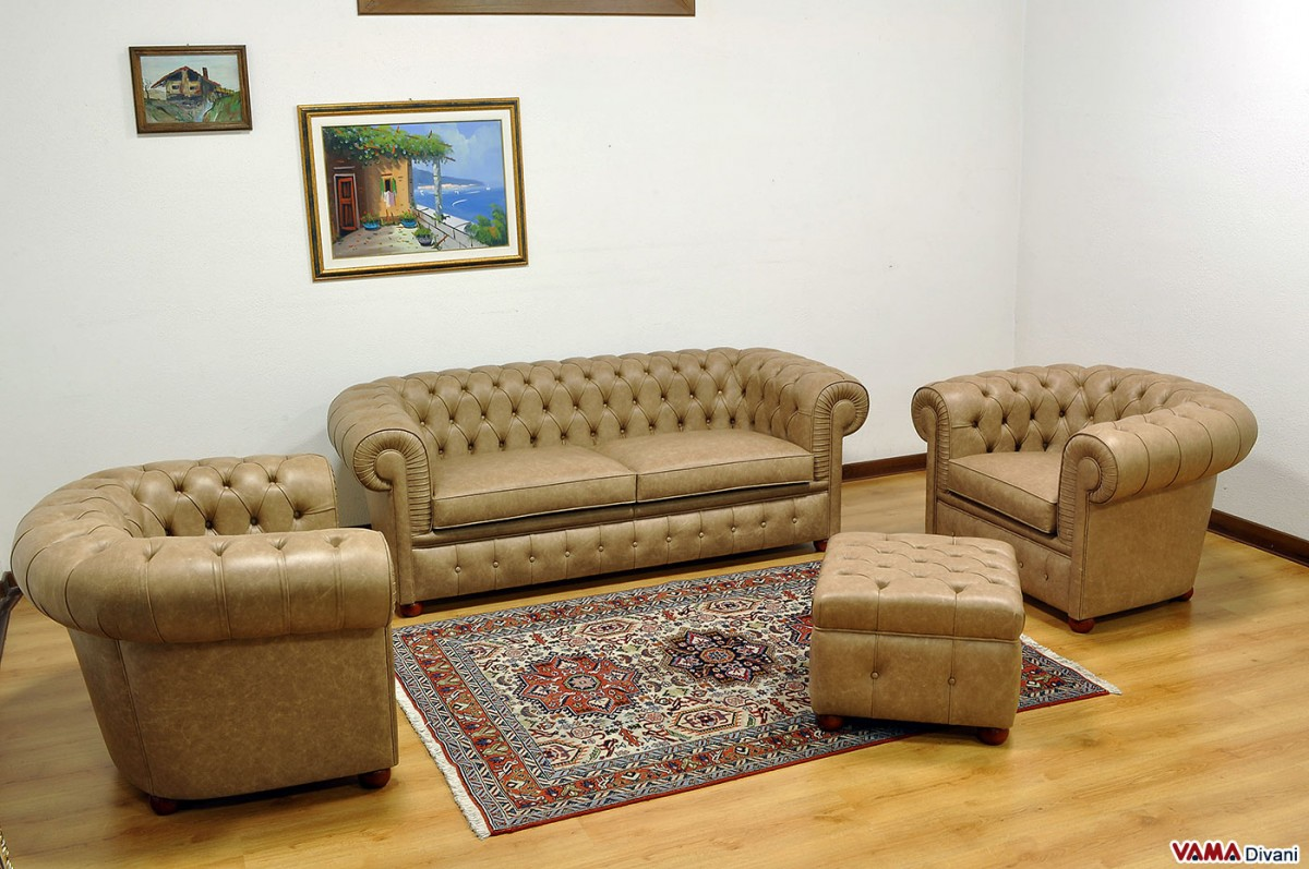 Chesterfield Sofas And Armchairs With