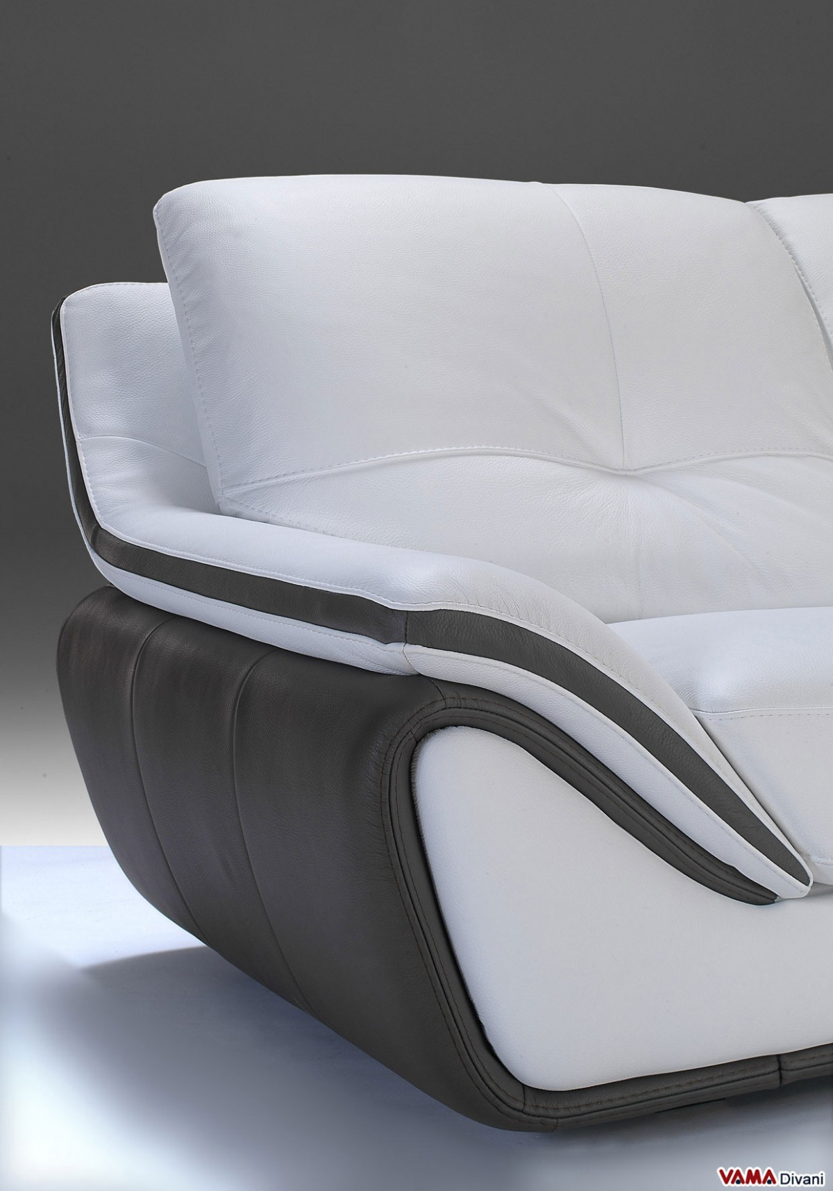 contemporary white leather sofa large and high back Modern White Leather Sofa Italian White Leather Sectional Sofa