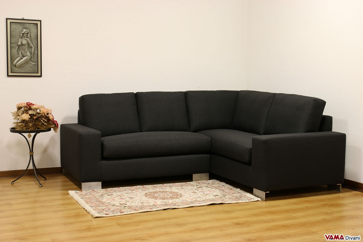 Contemporary sofa fabric leather and even custom sofa for Black fabric couches