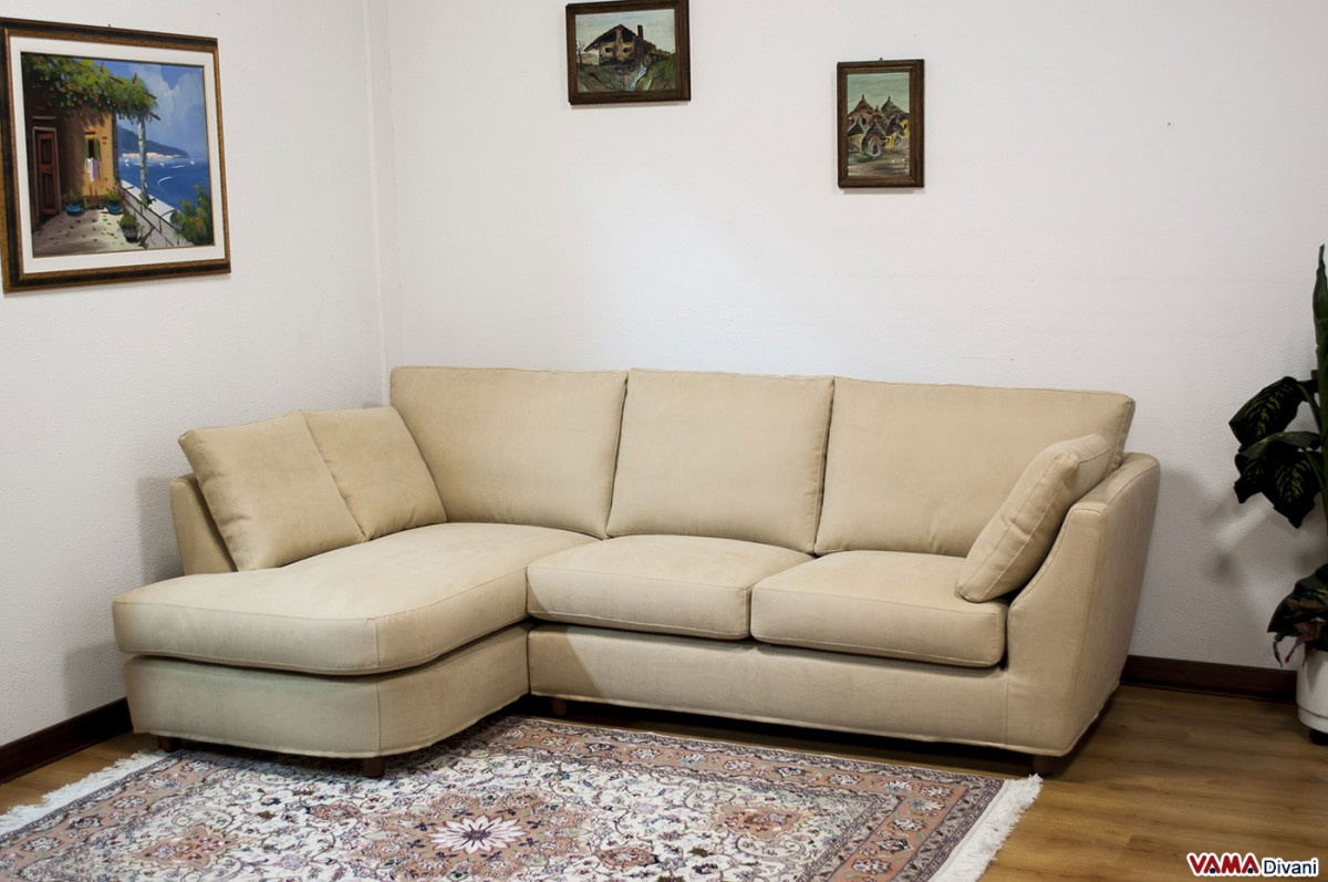 opera small corner sofa in microfibre