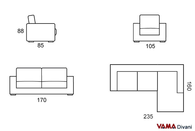 Corner sofa of small dimensions custom sizes available for What size sectional for my room