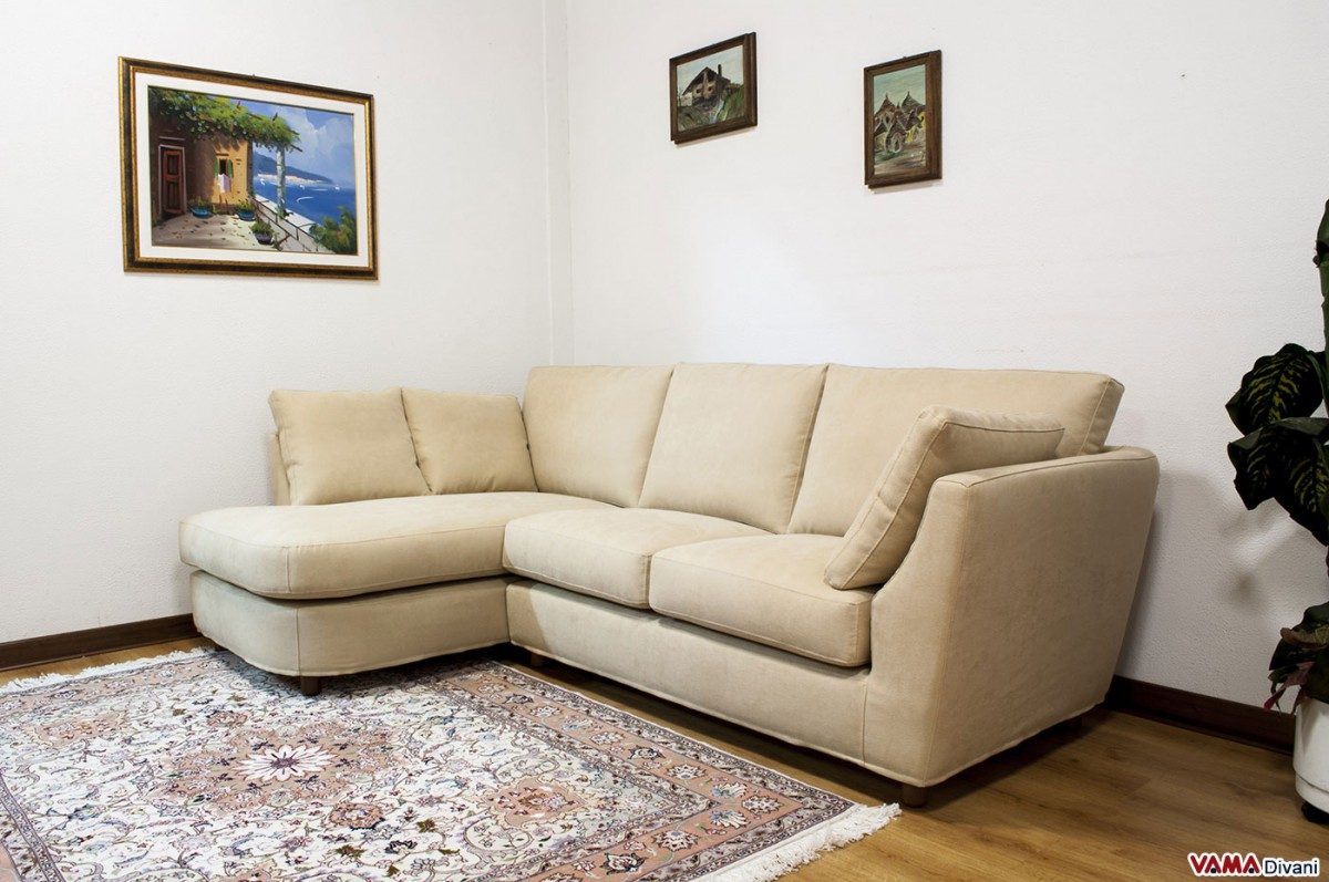 Corner sofa of small dimensions custom sizes available for Small lounge sofa