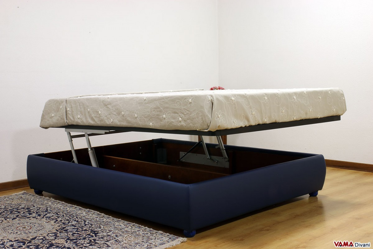 Sommier double bed also available with custom storage box for Double bed with storage and mattress