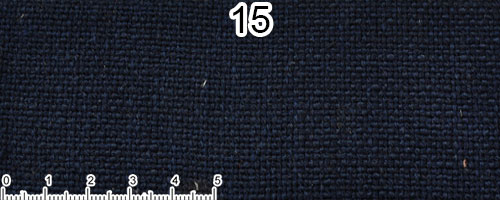 Dark blue cotton and linen fabric