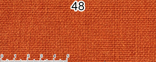 Orange cotton and linen fabric