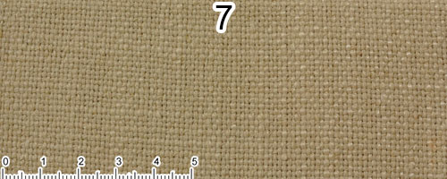 Beige cotton and linen fabric