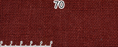 Brick red cotton and linen fabric