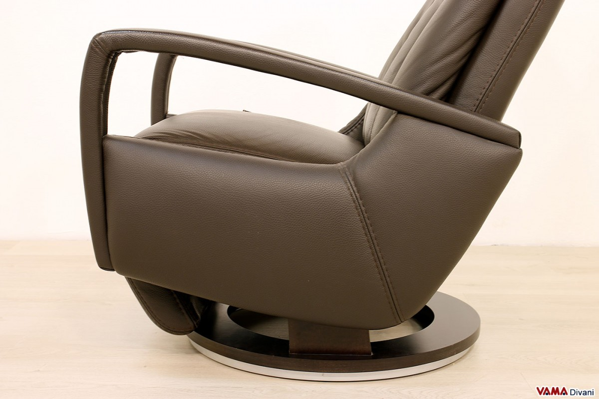 Relax Armchair With Manual Reclining Modern Swivel
