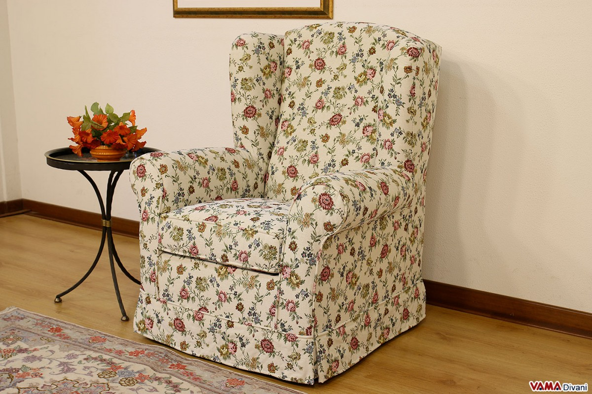 Berg 232 Re Armchair With Big Ears And Removable Cover