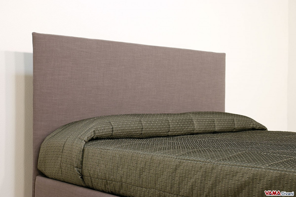 Upholstered fabric bed simple linear and minimal headboard for Simple headboards