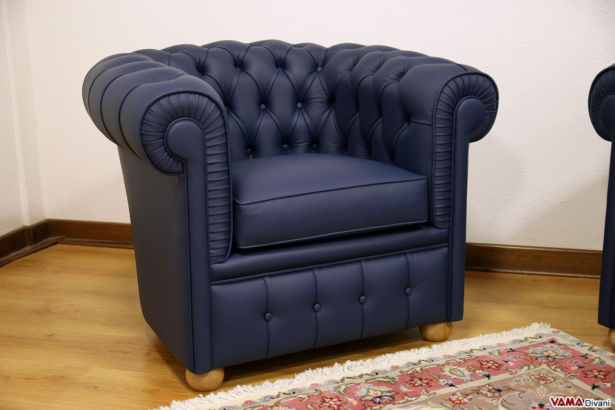 Chester armchair of small size chesterina armchair for Small blue armchair