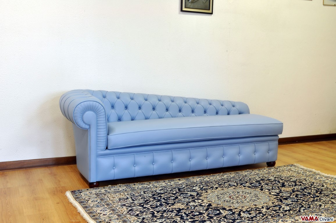 Chesterfield leather chaise longue price and sizes for Sofa chaise 1 lugar