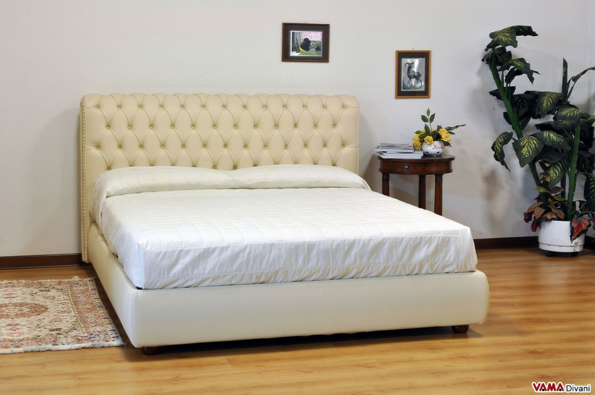 Cream Leather Double Bed Frame Bed Frame Ideas