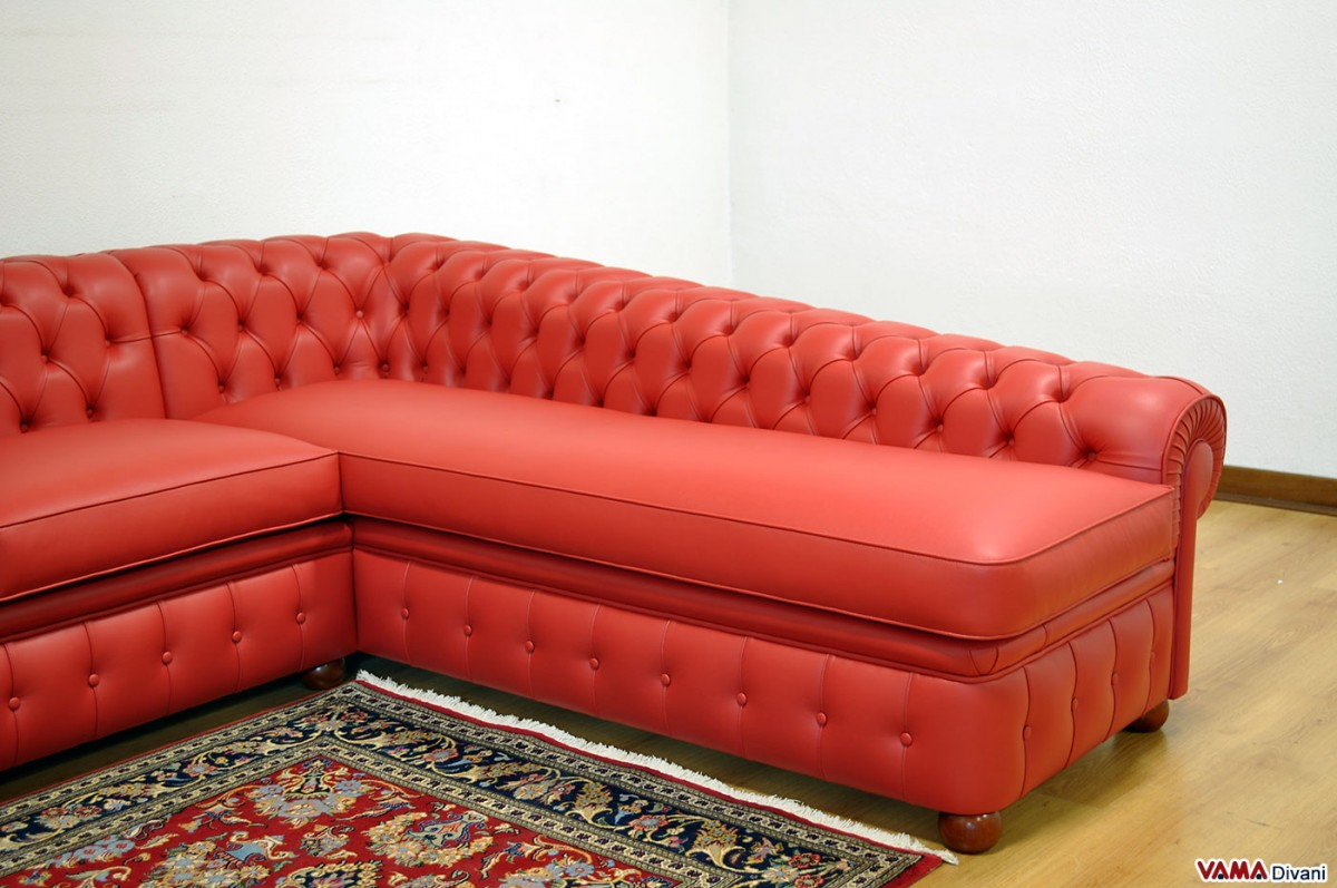 Chesterfield corner sofa price and sizes for Chaise chesterfield