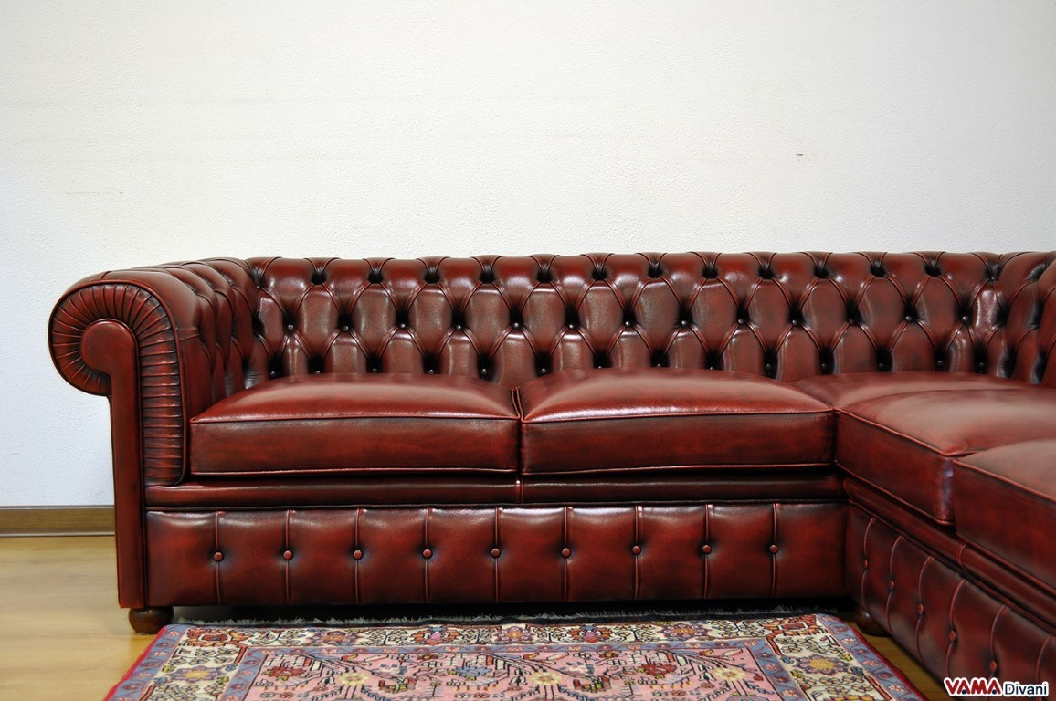Vintage corner sofa chesterfield sofa velvet 11 vintage corner leather thesofa Leather chesterfield loveseat