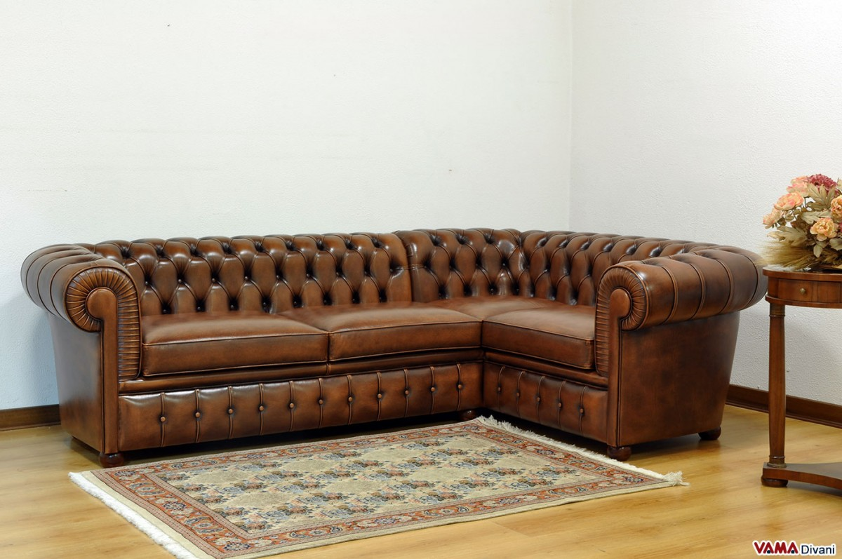 Chesterfield Corner Vintage Sofa