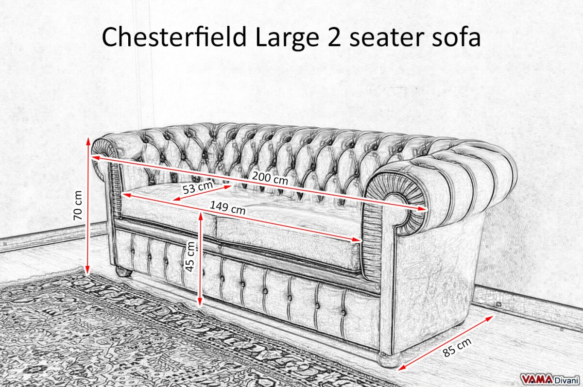 chesterfield 3 seater sofa dimensions. Black Bedroom Furniture Sets. Home Design Ideas