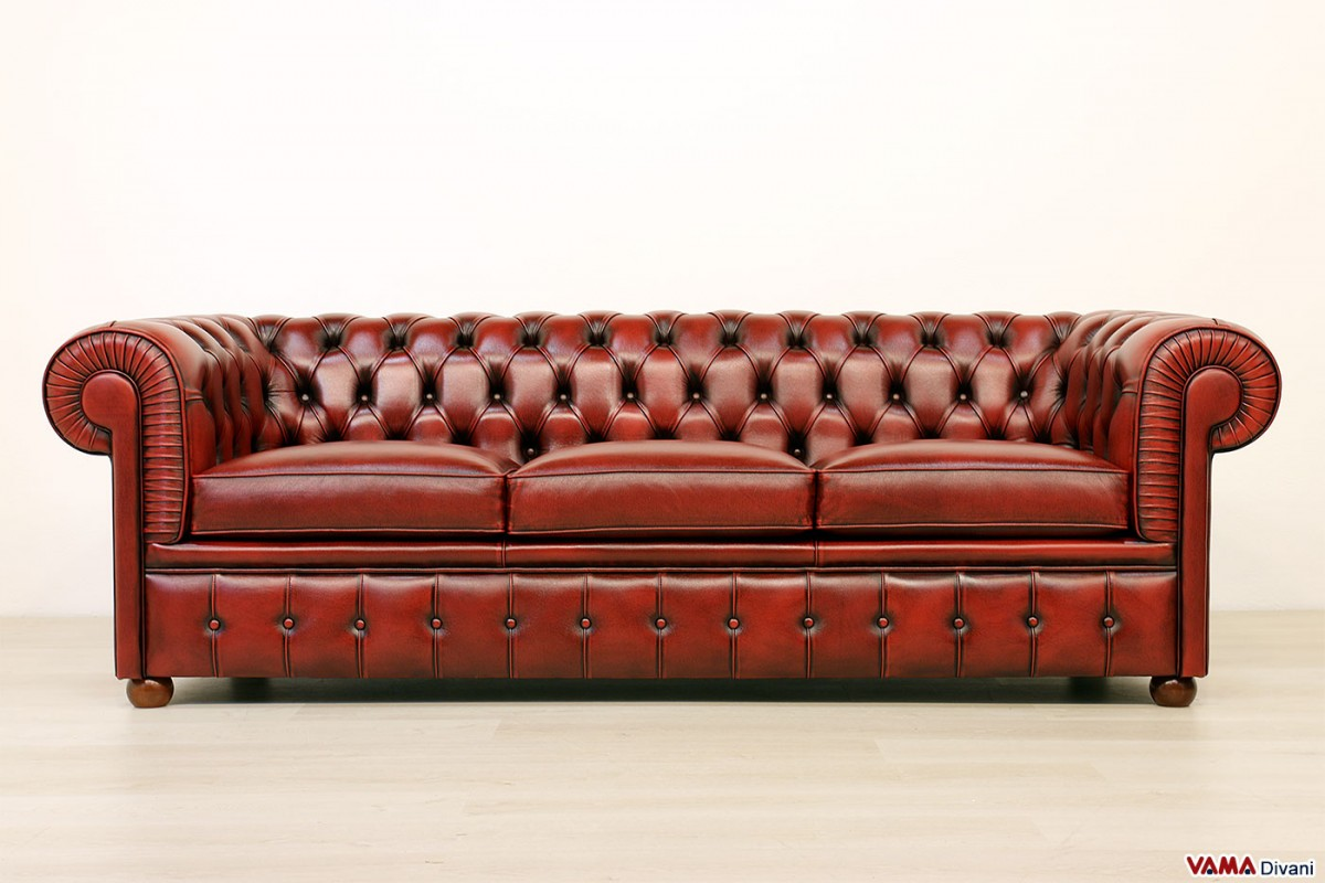 Red Chesterfield Sofa Chesterfield Sofa Leather 2 Seater