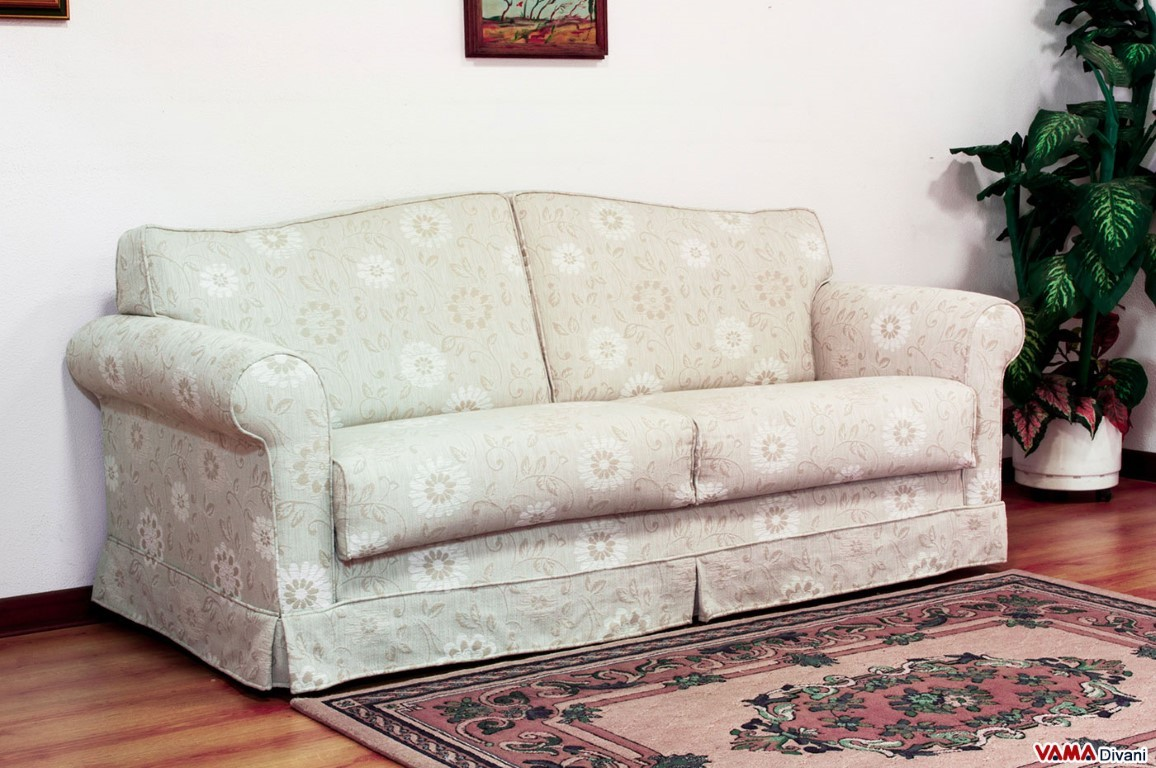 Double Sofa Bed Classic Fabric Double Sofa Bed