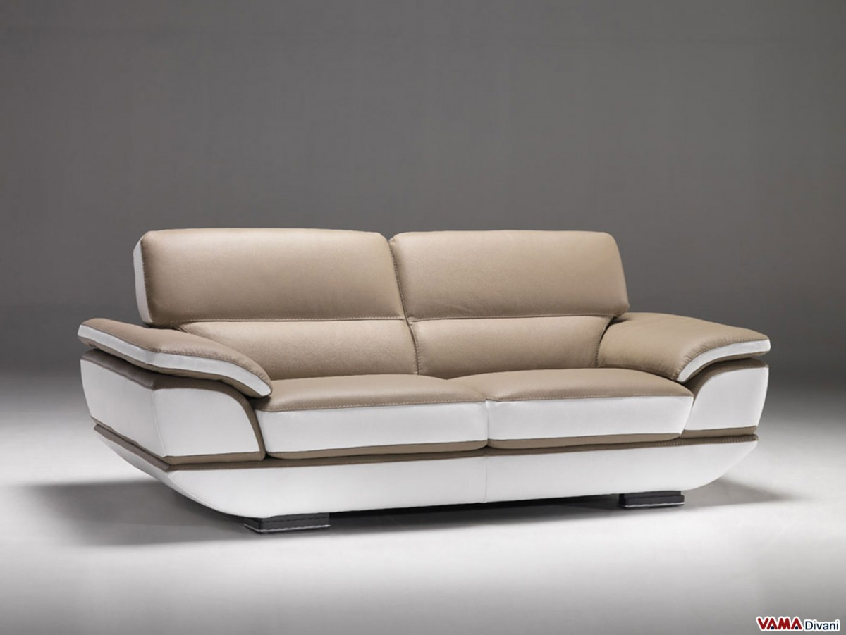 Contemporary leather sofa with a 60 degree corner Contemporary leather sofa