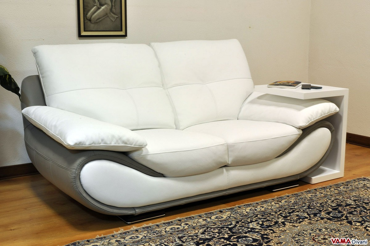 Contemporary White Leather Sofa Price And Dimensions