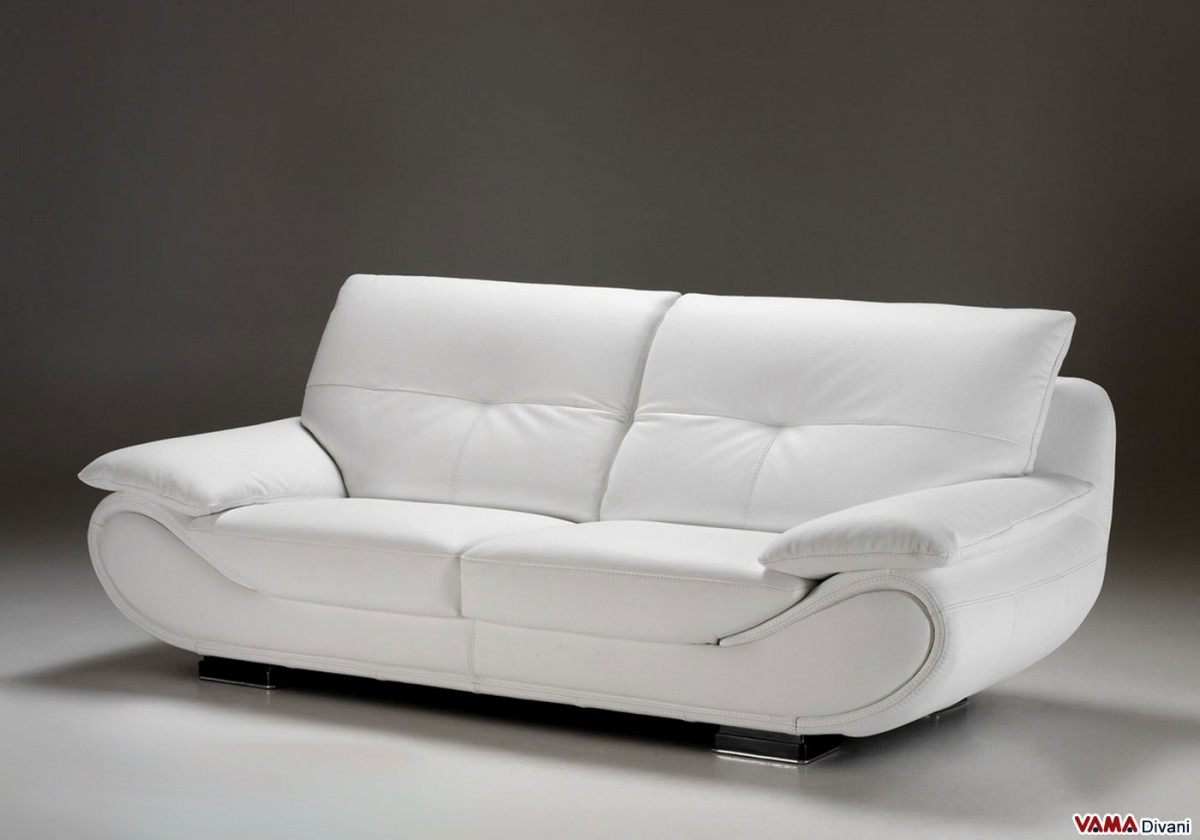 contemporary sofa in white leather with high back. contemporary white leather sofa  price and dimensions
