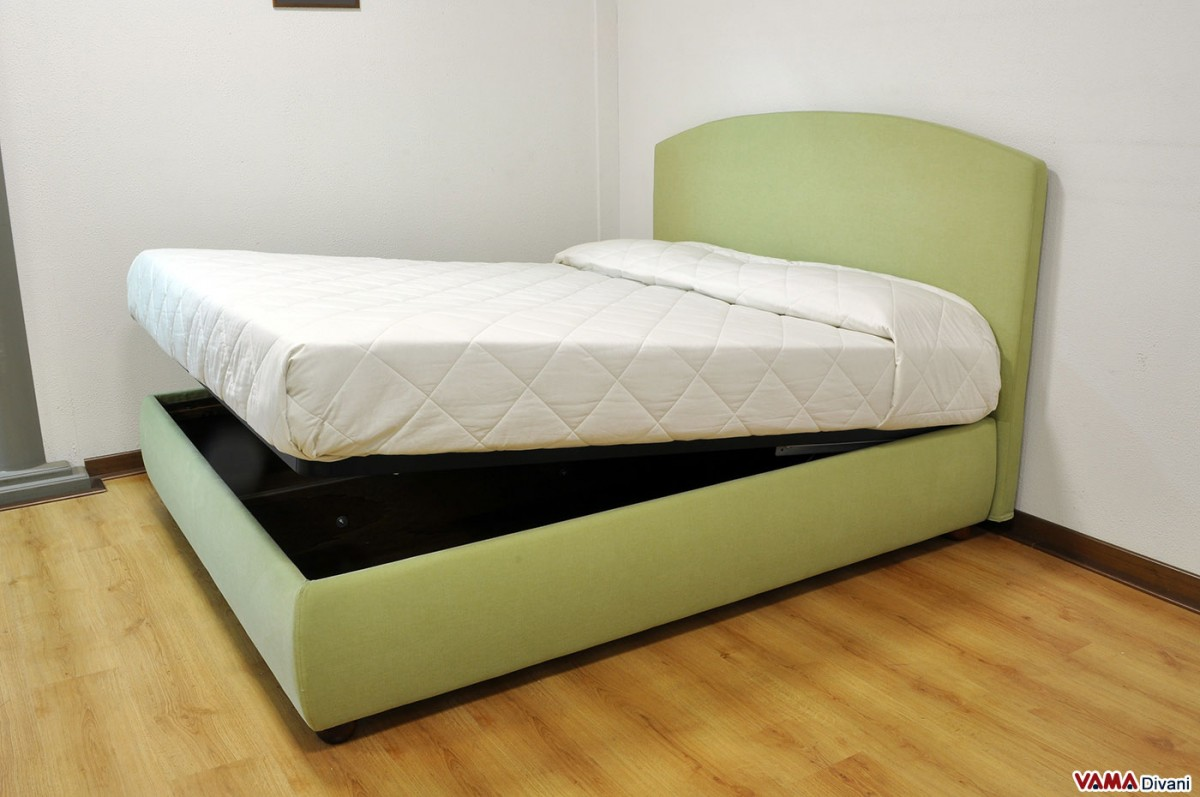 Fabric Double Bed With Removable Cover And Storage Box