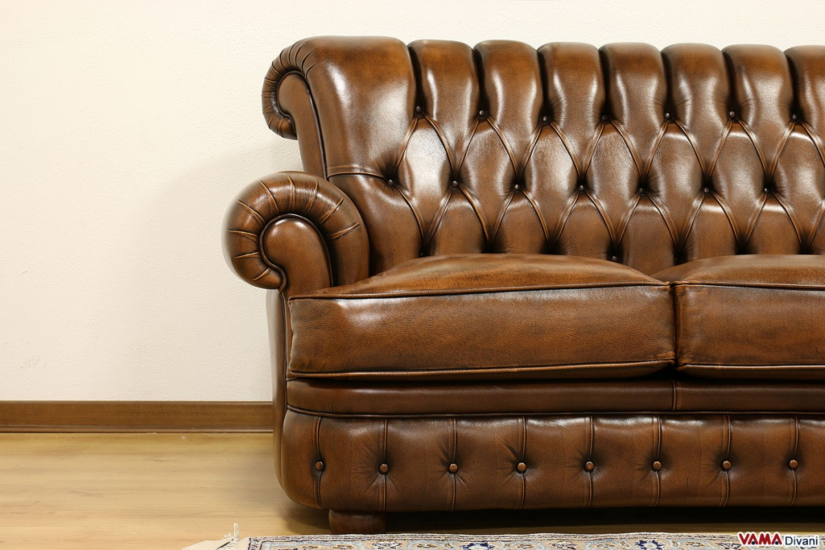High Back Sofa With Brown Ons