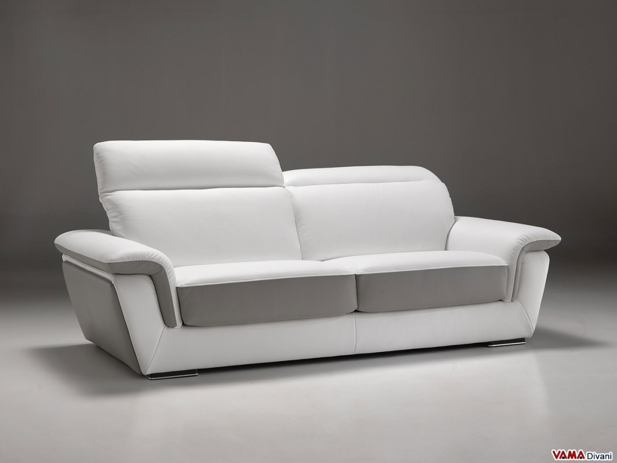Contemporary and minimalist leather sofa with reclining for Minimalist sofa