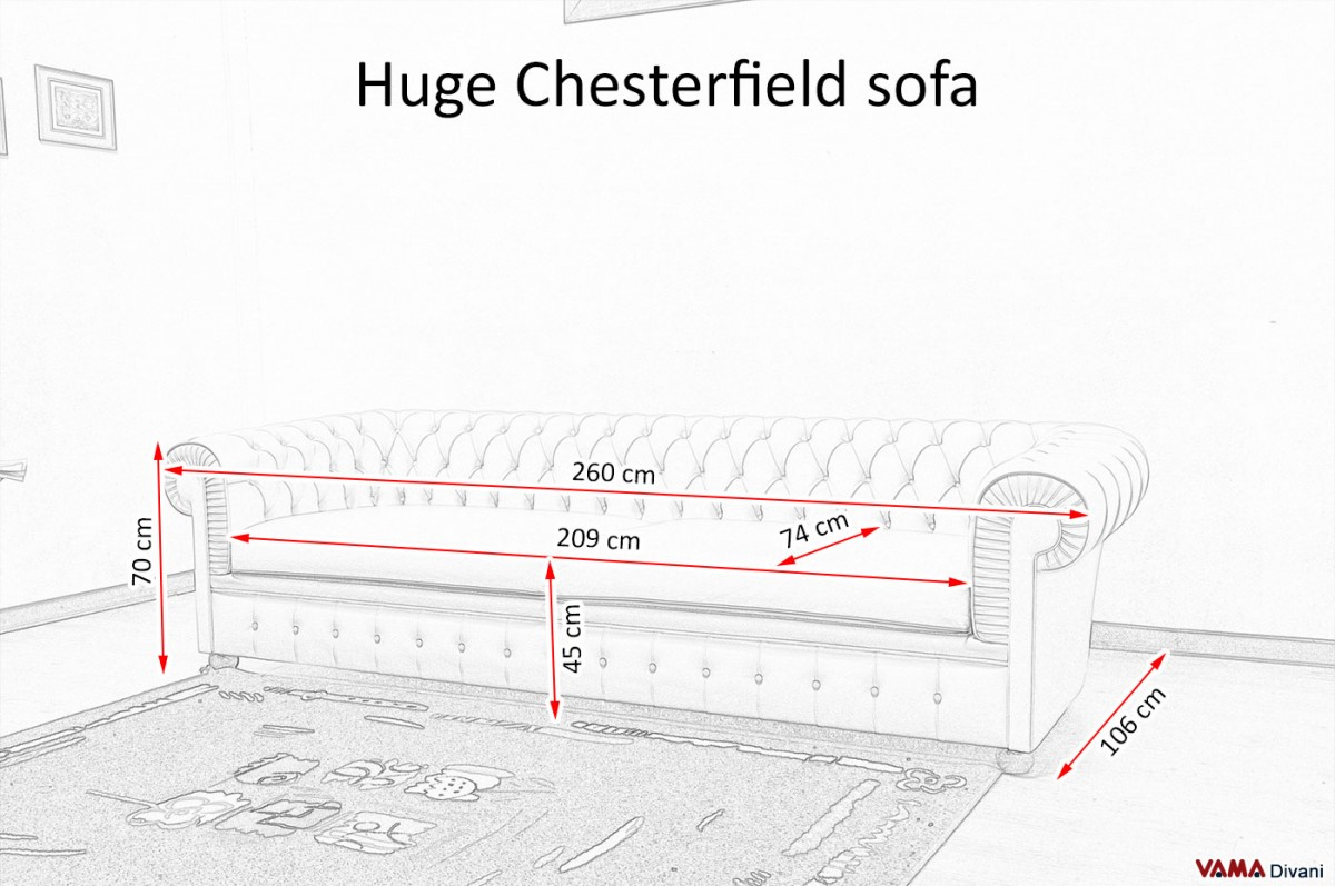 Chesterfield Sofa Length Sofa Menzilperde Net