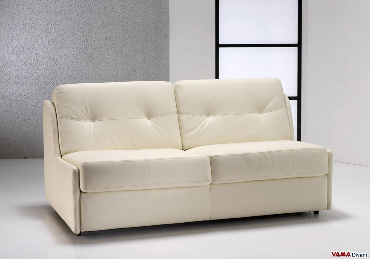 Superbe Leather Sofa Bed Without Arms. Zoom
