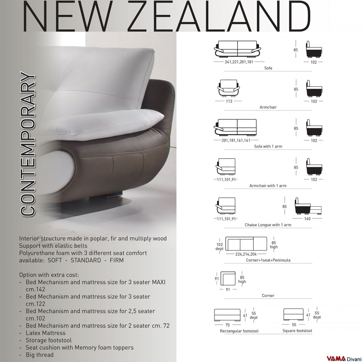 Leather Couches New Zealand: Contemporary White Leather Sofa