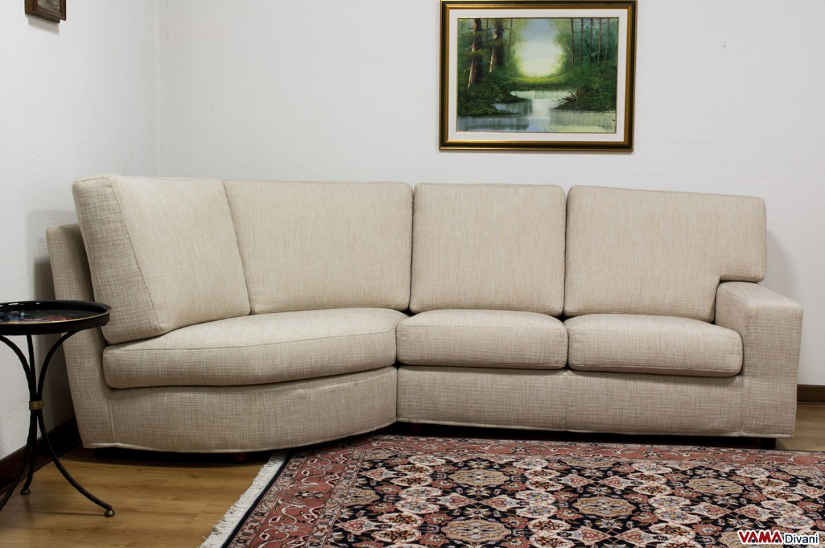 Rounded corner fabric sofa with removable cover for Sofa divano
