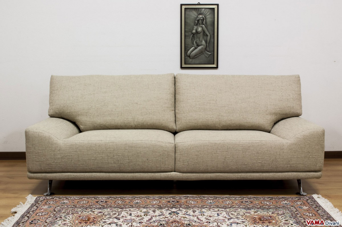 Contemporary Fabric Sofa With Removable Cover And Without Arms