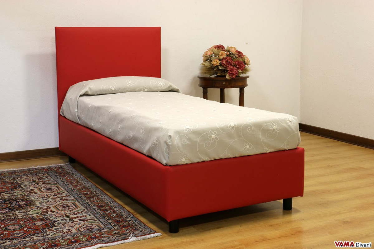 Upholstered Fabric Bed Simple Linear And Minimal Headboard