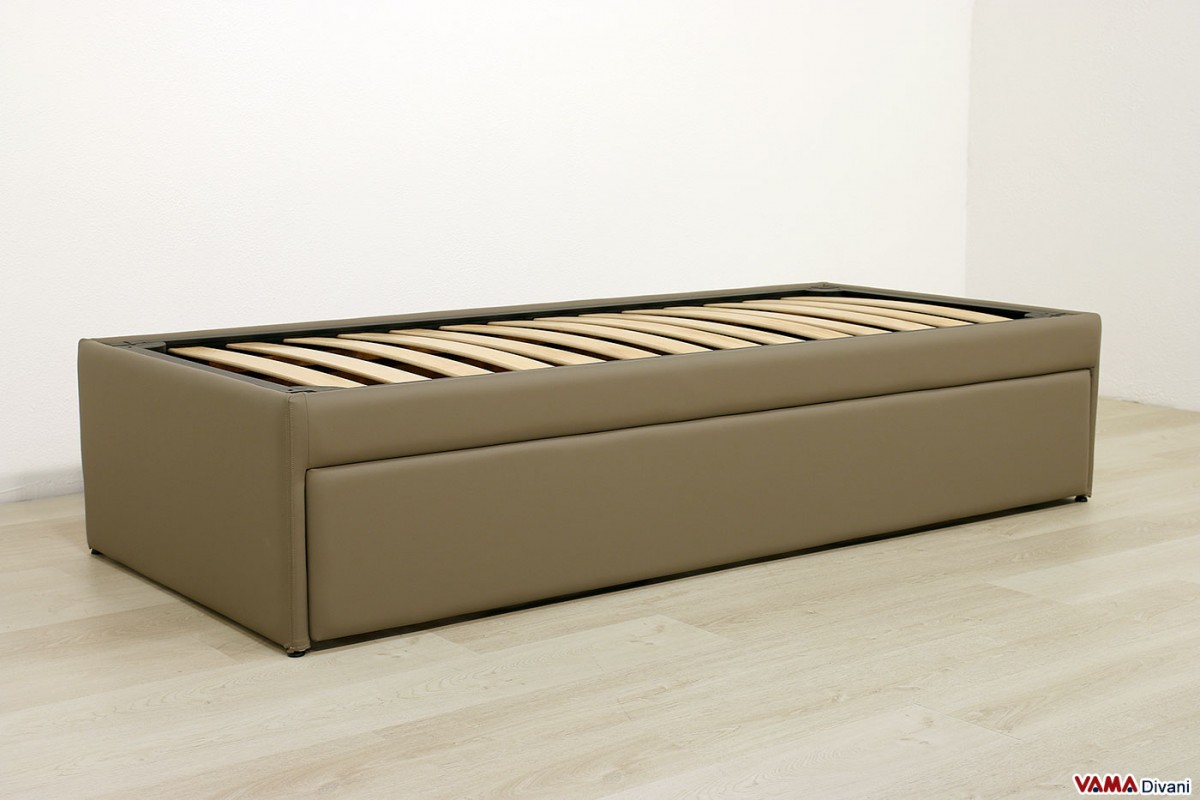 Pull out guest bed with slatted base for Letto con letto estraibile