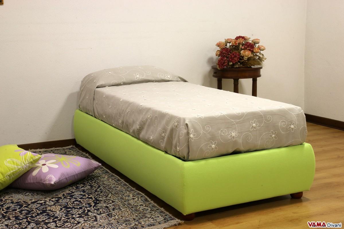single sommier bed with storage box and slatted base. Black Bedroom Furniture Sets. Home Design Ideas