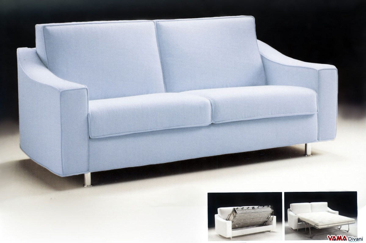 Contemporary fabric double sofa bed with removable cover for Soggiorni moderni rossi