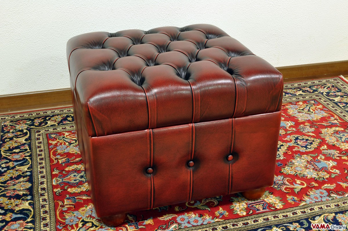 Chesterfield Leather Footstool Create Your Own Custom Model