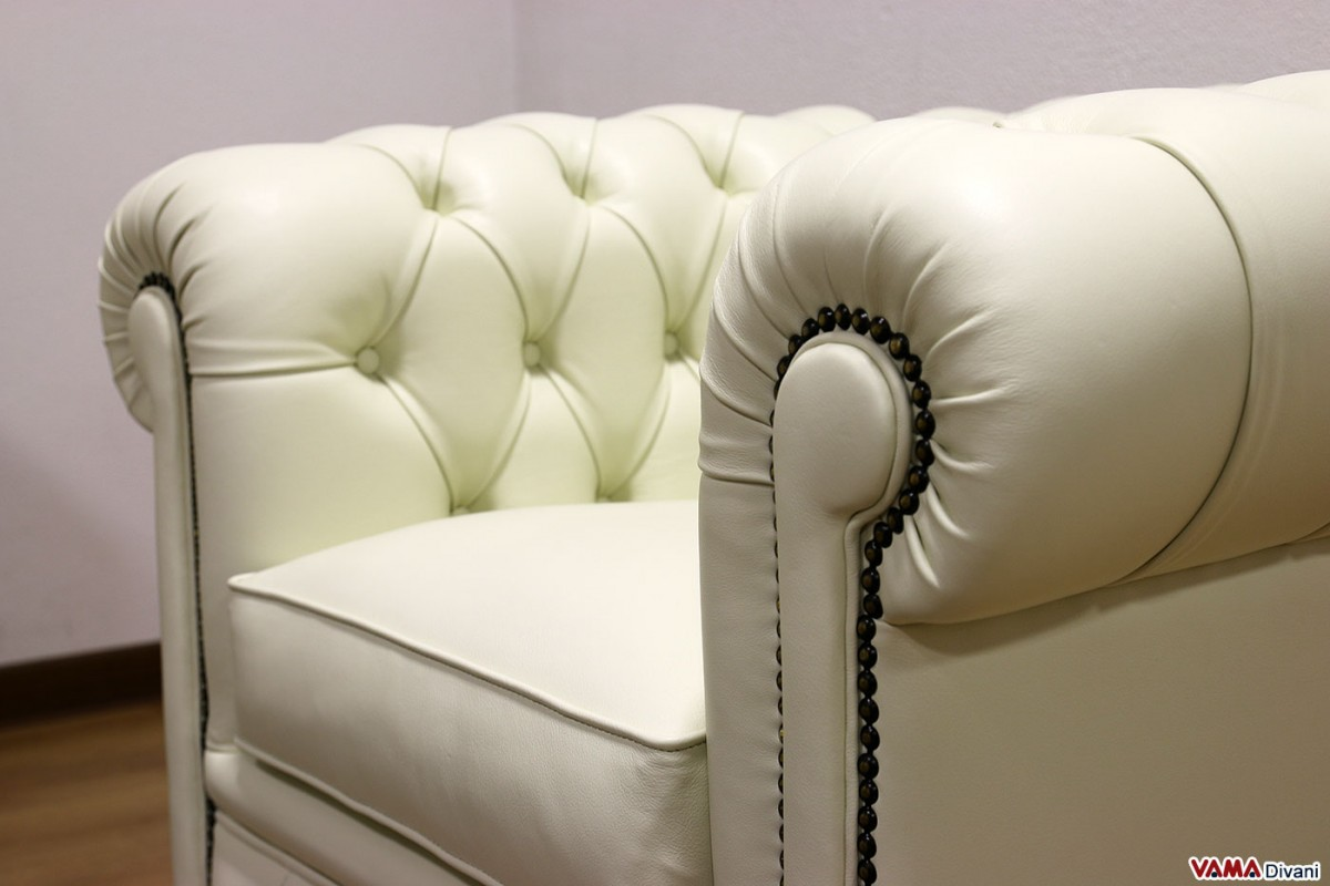 Chester armchair of small size chesterina armchair for Small white armchair
