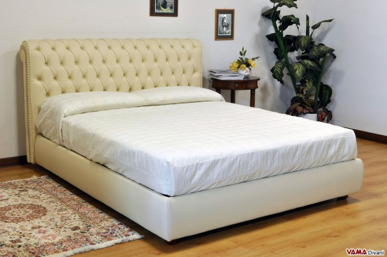 Chesterfield Grain Leather Double bed