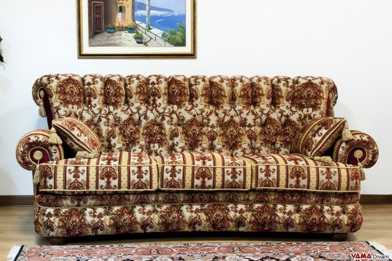 Classic luxury damask fabric sofa