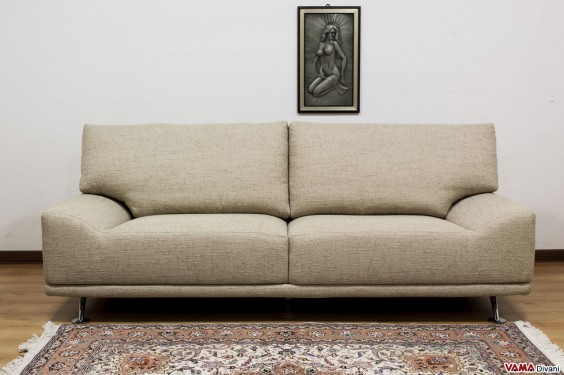 Rough fabric sofa with removable cover