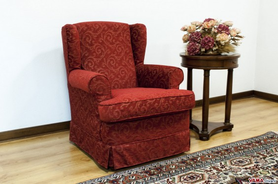 Small Bergère armchair with removable cover
