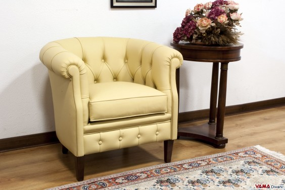 Yellow bedroom armchair